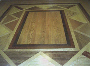 RSL Millworks Custom Wrap Around Floor Design with 45º Miters Photo
